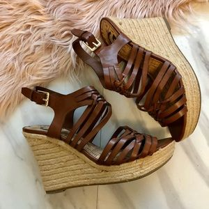 Guess wedges sandals size 8